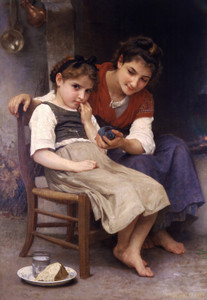 Art Prints of Little Sulky by William Bouguereau