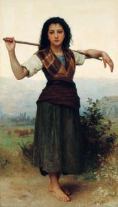 Art Prints of The Little Shepherdess by William Bouguereau