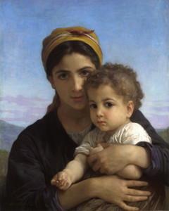 Art Prints of Young Girl and Child by William Bouguereau