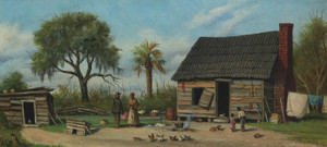 Art Prints of Family Outside the Cabin by William Aiken Walker