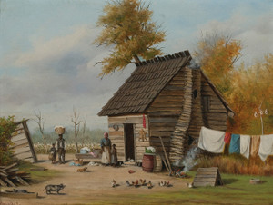 Art Prints of Outside the Cabin by William Aiken Walker