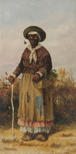 Art Prints of Woman with a Cane by William Aiken Walker