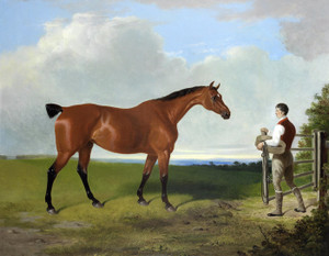 Art Prints of Landscape with Hunter and Groom by William Barraud