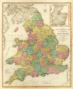 Art Prints of England, Wales and Scotland, 1801 (2104007) by William Faden