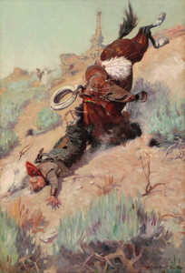 Art Prints of The Badger Hole, the Spill by William Herbert Dunton