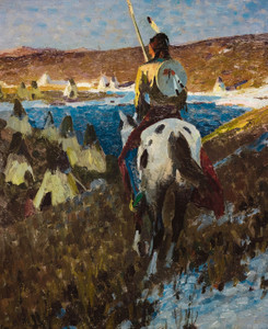 Art Prints of Winter Camp of the Sioux by William Herbert Dunton