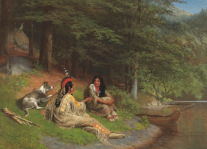 Art Prints of Indian Idyl by William Holbrook Beard