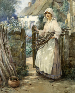 Art Prints of Gathering Firewood by William Kay Blacklock