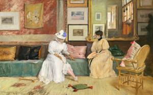 A Family Call by William Merritt Chase | Fine Art Print
