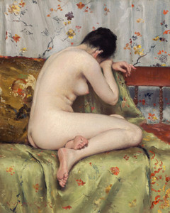 Art Prints of A Modern Magdalen by William Merritt Chase