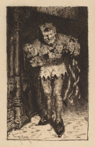 Art Prints of Keying up the Court Jester by William Merritt Chase
