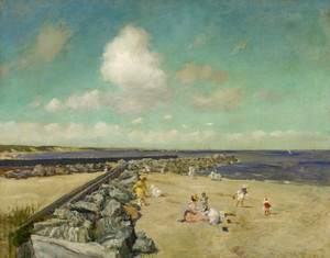 Art Prints of Morning at Breakwater, Shinnecock by William Merritt Chase