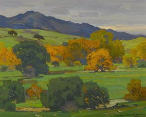 Art Prints of California Landscape Depicting Autumn Oaks by William Wendt