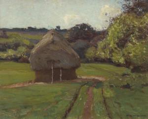 Art Prints of Haystacks by William Wendt