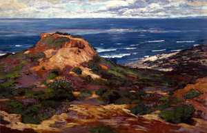 Art Prints of Orange Coast with Blue Sea Beyond by William Wendt