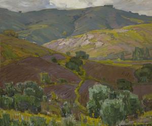 Art Prints of Plowed Fields by William Wendt