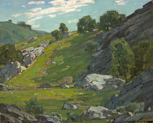 Art Prints of The Cow Trail by William Wendt