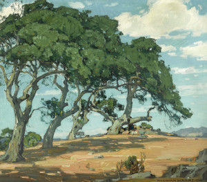 Art Prints of The Top of the Hill near San-luis-Opispo by William Wendt