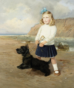 Art Prints of A Visit to the Beach by William Woodhouse