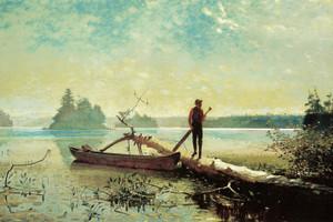 Art Prints of An Adirondack Lake by Winslow Homer