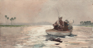 Art Prints of Bass Fishing, Florida by Winslow Homer