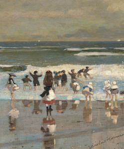 Art Prints of Beach Scene by Winslow Homer