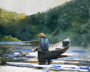 Art Prints of Boy Fishing by Winslow Homer