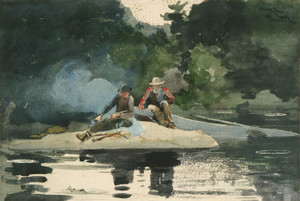 Art Prints of Building a Smudge by Winslow Homer