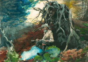 Art Prints of Campfire Adirondacks by Winslow Homer