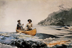 Art Prints of Entering the First Rapid by Winslow Homer