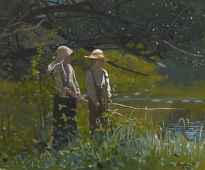 Art Prints of Fishing by Winslow Homer
