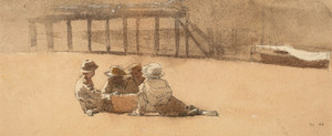 Art Prints of Four Boys on a Beach by Winslow Homer