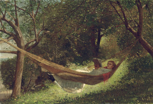 Art Prints of Girl in the Hammock by Winslow Homer
