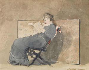Art Prints of Girl Reading by Winslow Homer