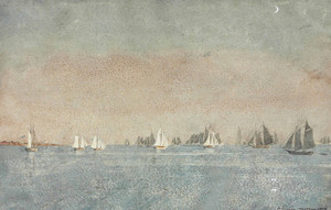 Art Prints of Gloucester Harbor Fishing Fleet
