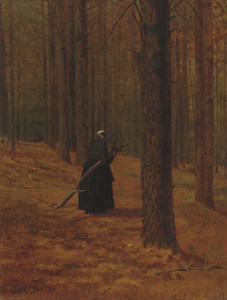 Art Prints of Old Woman Gathering Sticks by Winslow Homer