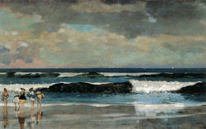 Art Prints of On the Beach by Winslow Homer
