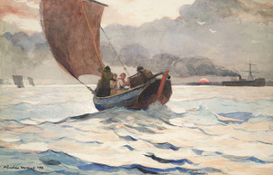Art Prints of Returning Fishing Boats by Winslow Homer