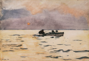 Art Prints of Rowing Home by Winslow Homer