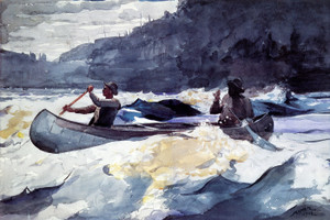 Art Prints of Shooting the Rapids by Winslow Homer