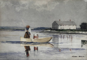Art Prints of Spearing Eels by Winslow Homer