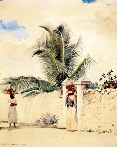 Art Prints of The Garden Gate by Winslow Homer