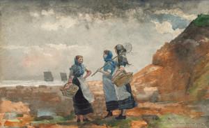Art Prints of Three Fisher Girls Tynemouth by Winslow Homer