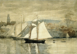 Art Prints of Two Sailboats by Winslow Homer