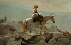 Art Prints of The Bridle Path White Mountains by Winslow Homer