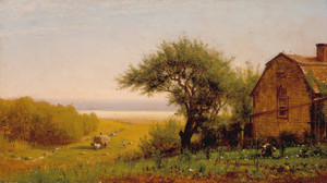 Art Prints of A Home by the Seaside by Worthington Whittredge