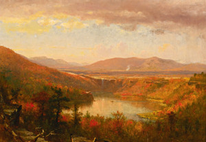 Art Prints of Kauterskill Falls by Worthington Whittredge