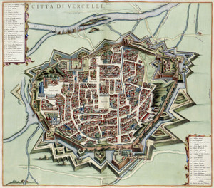 Art Prints of Map of the town Vercelli, 1682 (387) by an Unknown Artist