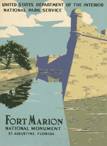 Art Prints of Fort Marion National Monument, Florida (399095), Travel Poster