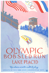 Art Prints of Olympic Bobsled Run, Lake Placid (399134), Travel Poster